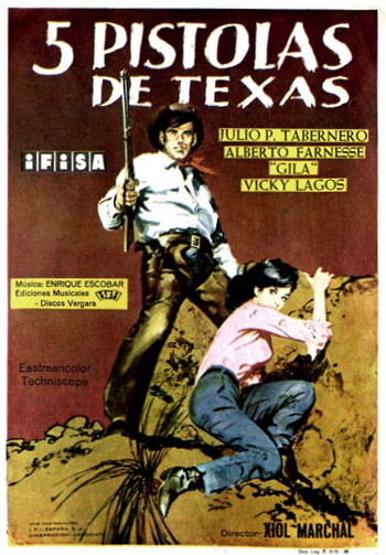 CINCO PISTOLAS DE TEXAS