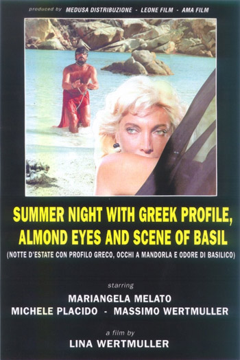 SUMMER NIGHT, WITH GREEK PROFILE, ALMOND EYES AND SCENE OF BASIL